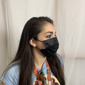 Face Mask Black Side View