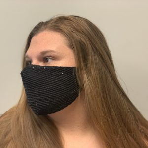 Party Mask - Black Sequin