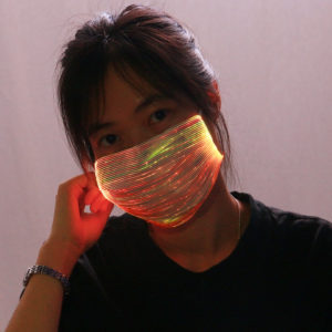 Fiber Optic Face Mask Orange